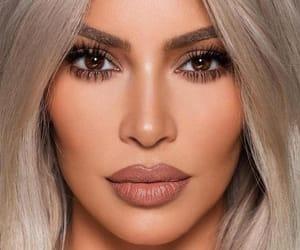 kim kardashian, make up, and kardashian image