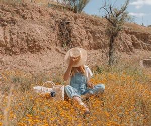 boho, flowers, and girl image