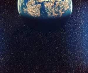 earth, night, and space image
