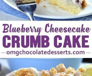 blueberry, crumb cake, and sweets image
