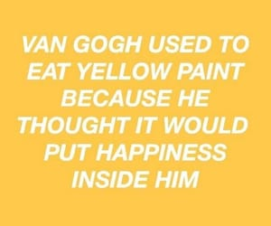 yellow, paint, and van gogh image