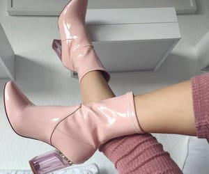 girly, pink, and shoes image