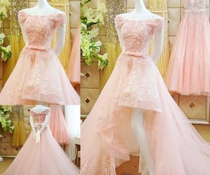 evening dress, pink dress, and prom dress image