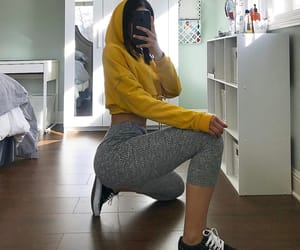 fit, leggings, and hoodie image