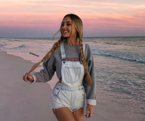 girl, beach, and outfit image