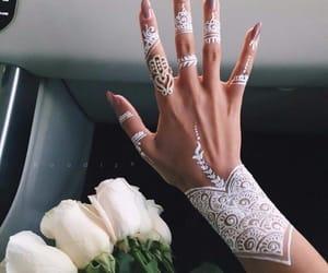 henna, tattoo, and white image