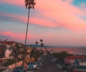 sky, beach, and california image