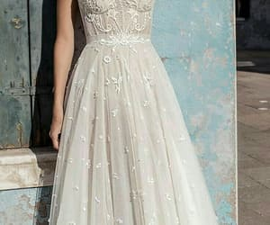 wedding dress, fashion, and wedding image