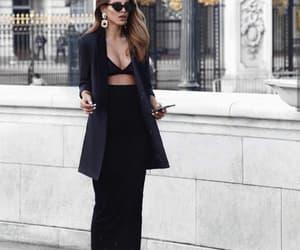 black, blazer, and bra image