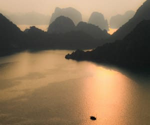 mountains, sunset, and Vietnam image