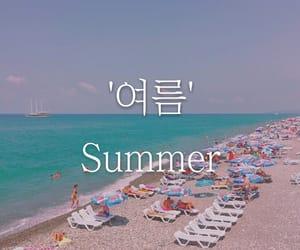 beach, blue, and korea image