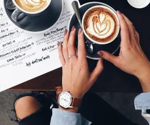 coffee and wristwatch image