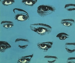 eyes, blue, and art image