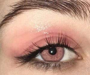 pink, beauty, and eye image