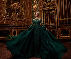 beauty, dress, and green image