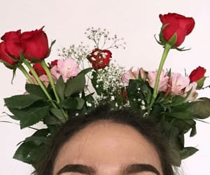 flowers, tumblr, and makeup image