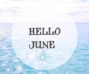 june, summer, and blue image
