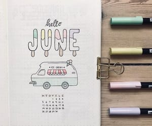 june, notebook, and bullet journal image