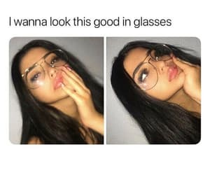 beautiful and glasses image
