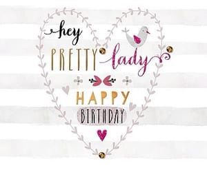 girly, lady, and happy birthday image