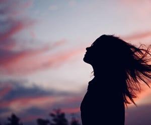 girl, hair, and sky image