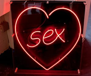 heart, Hot, and neon lights image
