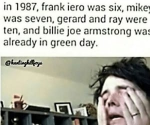 billie joe armstrong, frank iero, and funny image