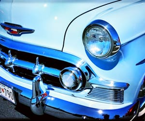 automobiles, blue, and headlight image