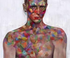 art, sad, and tears image