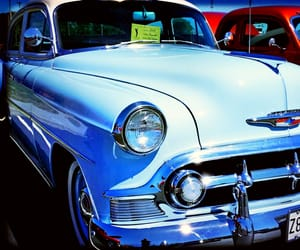 automobile, blue, and cars image