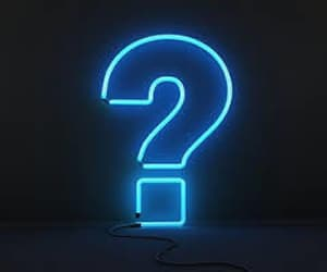 blue, question mark, and neon lights image