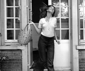jane birkin, black and white, and vintage image