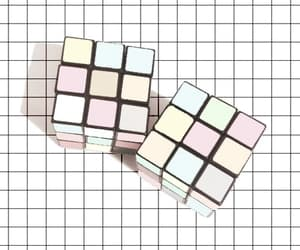 pastel, grunge, and cube image