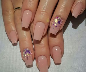nails, pink, and long image