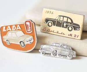 lada car pin, soviet automobile, and volga pins soviet image