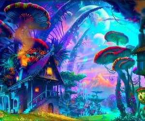 fantasy, mushroom, and house image