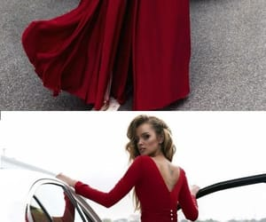 dress, gown, and red image