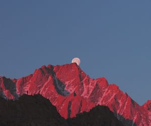 aesthetic, mountains, and red image