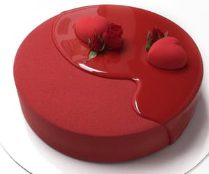 food, red, and cake image