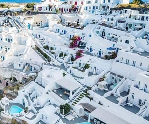 santorini, travel, and adventure image