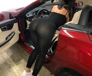 big butt, car, and jumpsuit image