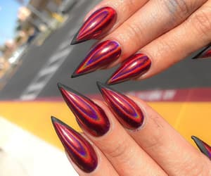 nails, red, and long image
