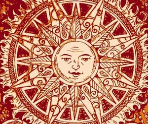 sun, moon, and art image