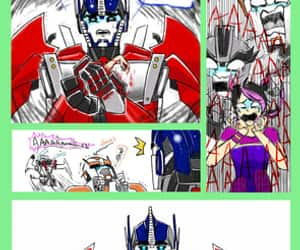 comic, optimus prime, and transformers prime image