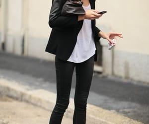black, fashion, and phone image