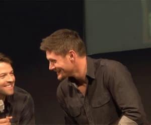 Jensen Ackles, misha collins, and destiel image