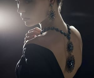 necklace, black, and jewelry image