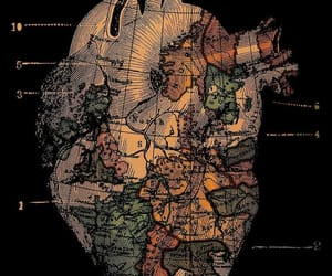 heart, wallpaper, and map image
