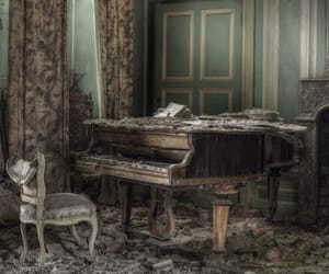 abandoned, forgotten, and piano image