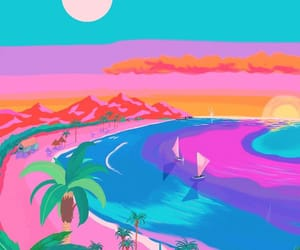 beach, art, and background image